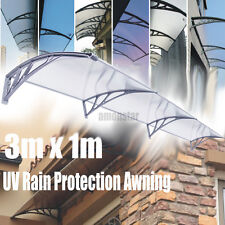 40x 120'' UV Polycarbonate Awning For Door Window Patio Clear Hollow Sun Sheet