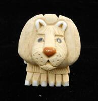 Artesania Rinconada Uruguay Adult Male Lion Pottery Figurine EXCELLENT CONDITION