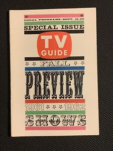 TV Guide 9/16 1961 September Television Fall Preview Special Issue cover 1961-62