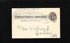 Elias Lyman Coal Postal Card Burlington VT 1900 Postal Order Card 8t