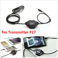 Car Stereo Wireless FM Transmitter 3.5mm AUX Audio Output Adapter + USB Charger