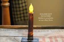 "Country Burnt Mustard 6"" - 6.5"" TIMER Battery Operated LED Taper Candle"