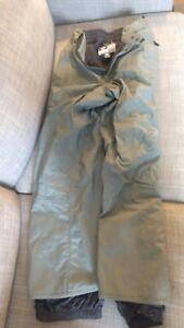 Burton Tempest Snowboard Ski Pants, Size XL, Sage color, Full Zipper sides