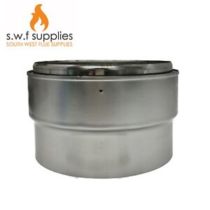 Multi Fuel Stove Flue Liner Adapter For Rigid Flue Pipe To Flexible Flue Liner