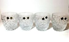 NEW BOHEMIA SET OF 4 CLEAR CRYSTAL OLD FASHIONED WHISKEY SCOTCH THICK GLASS