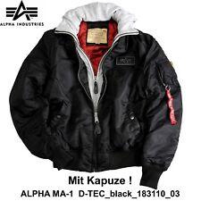 Alpha Industries Flight Jacket Ma-1 D-tec Black M