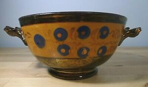 Lovely Victorian Sunderland Copper Lustreware Handled Bowl Sweetmeats
