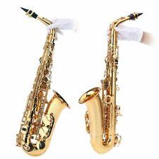 Saxophon bE Alt Blech Gold lackiert E Flach Sax 802 Taste Typ Reinigungsbürste