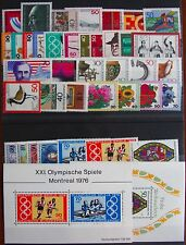 Germany Complete Year 1976 Stamp Set w/ SS Mint Never Hinged MNH German Stamps