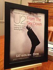 """4 FRAMED ORIGINAL U2 """"FROM THE SKY DOWN"""" DVD LP ALBUM CD """"PROMO ADS"""""""
