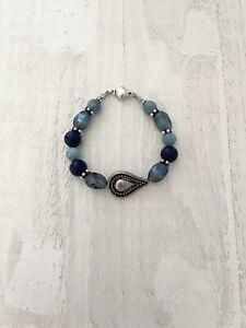 Lapis & Chalcedony, Blue Bracelet, Lapis Healing Bracelet. Lapis Delight.