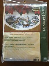 Dimensions Needlecrafts Counted Cross Stitch #70-08830 Sleigh Ride Tree Skirt