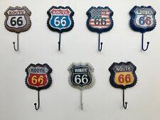 Juego de 7 ruta 66 Metal Gancho para la ropa con estilo Vintage, Decoración del hogar, garaje, Cueva de hombre