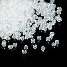 50g Clear/white Translucent AB Seed Beads Glass 2mm Size 11/0 J09085xa