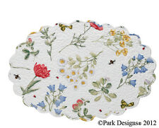 Placemat - Wildflower by Park Designs - Kitchen Dining Quilted Scalloped Oval