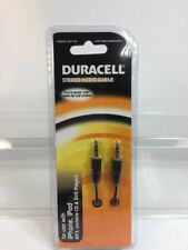 Duracell 35mm Stereo Audio Cable Cell Phone DU7105 iPhone i Pad Music Jack