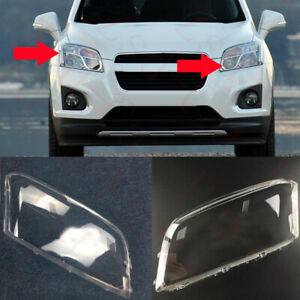 2x For Chevrolet Trax 2014-16 Left+Right Headlight Cover Replace Frame with Glue