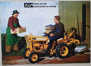 Massey Ferguson Elf Compact Tractor Leaflet/Brochure 1960's? 8 Page (in German?)