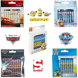 Licensed Kids Stackable Wax Crayons Colouring Crafts 24 Pack Art Supplies