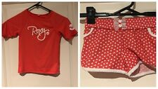 Roxy Tangerine White Rash Top & Board Shorts Sz 6