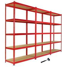 3 Garage Shelving Racking 90cm Storage Units Heavy Duty Metal Shelves 5 Tier