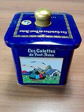 Très belle boite métal bleue - Les galettes de Pont-Aven - Bigoudène