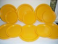 "Set 11 Ingrid Ltd Chicago Melamine Yellow Plates Dishes Camping Daycare 8"" & 10"""