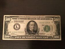 Rare!!!..... 1928 $500 Hundred Dollar Bill...100% real, San Francisco district!