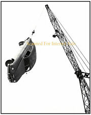 1951 Photo Car Suspended in Air ~ Junk Yard NASCAR Hot Rod