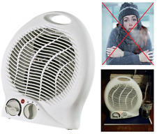 1500W Space Heater Energy Efficient Portable Electric Small Fan w/ Thermostat