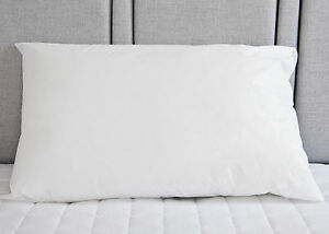 Luxury Pure 100% Cotton Pair of White Pillow Cases Hospital Quality   2 Cases