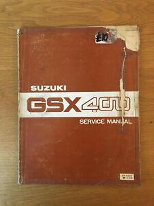 Suzuki GSX400E GSX400L Workshop service manual printed Nov 1980 , See below