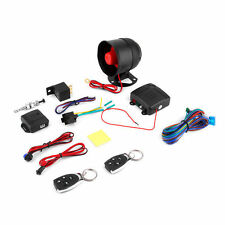 1 Car Vehicle Burglar Protection System Alarm Security+2 Remote Control Wo