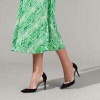 Kurt Geiger Black Perspex Court Shoes Size UK 5 EU 38 High Heel Stiletto Pumps
