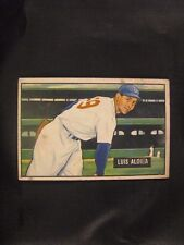 1951 BOWMAN LUIS ALOMA #231 BASEBALL CARD - UNGRADED - EXC!