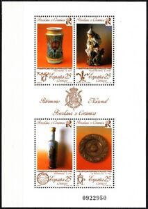 SPAIN 1991 National Heritage. Porcelain and Ceramics of 17-19th Centuries, MNH