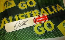 David Warner (Australia) signed Gray Nicolls mini bat + COA & proof