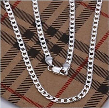 wholesale Fashion NEW Silver 4MM WIDE Mens Chain Necklace Good gift+Box