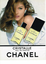 PUBLICITE ADVERTISING   1992   CHANEL    eau de parfum  CRISTALLE