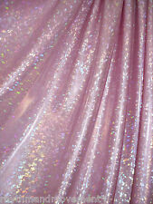 Dance Costume Spandex Lycra Ballet Pink Shattered Glass 50cm - 150cm wide