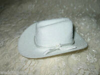 "3"" Western Wedding Party Crafts 6 Mini White Cowboy Hat Favors Decoration"