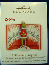* 2011 *  GRINCH A SHOCKING SURPRISE  Hallmark Ornament DR SEUSS