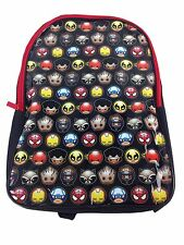 Marvel Comics Backpack Canvas  94 Comic Character Faces Adjustable Straps New