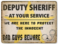 Deputy Sheriff Police metal sign male or female cop GIFT vintage style decor 560