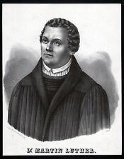 Luther-beau grand portrait lithographie de 1830-original!