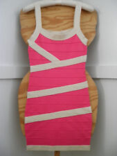 New Womens Salmon Pink Tan Sleeveless Knit Pencil Dress Sz.S By FOREVER 21