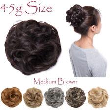 Lady Hot Hair Chignon Scrunchies Hair Piece Extension Curly Bun Updo As Human SH