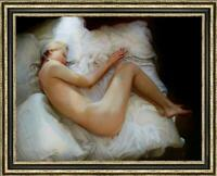 "Hand-painted Original Oil Painting art Portrait bed nude Girl on canvas 30""x40"""