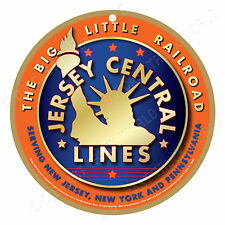 Jersey Central Lines (Org.) Logo Wood Plaque-Sign / Man Cave / Train & Kids Room