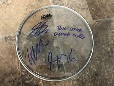 TWO DOOR CINEMA CLUB SIGNED AUTOGRAPHED 10 INCH DRUMHEAD COMPLETE ALL 3 ALEX